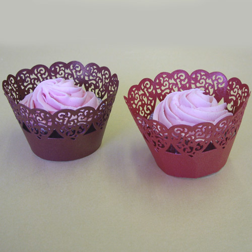 PME Cupcake Wrapper Hearts, Red, 12 Cups per pack CW913
