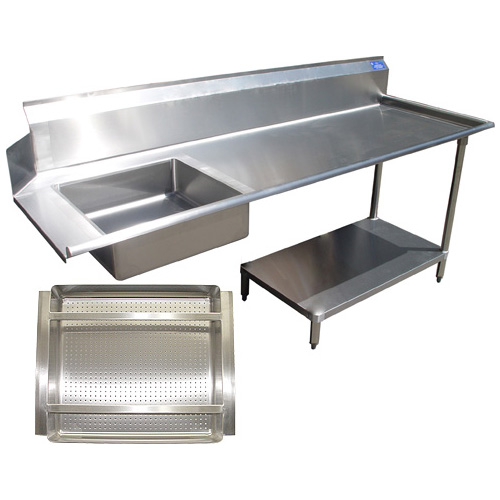 Trustworthy All Stainless Steel Soil Dishtable Undershelf Prerinse Basket Right Product Photo