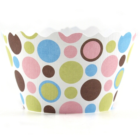 Bella Cupcake Couture Dorothy Polka Dot Wrapper - 12 Pieces