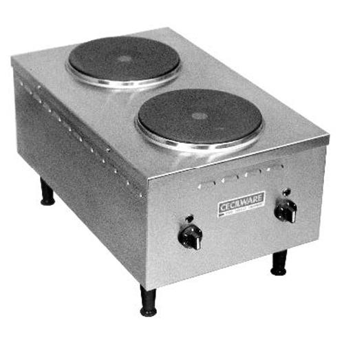 Cecilware EL24SH Electric Cooktop 240v, 1ph EL24SH