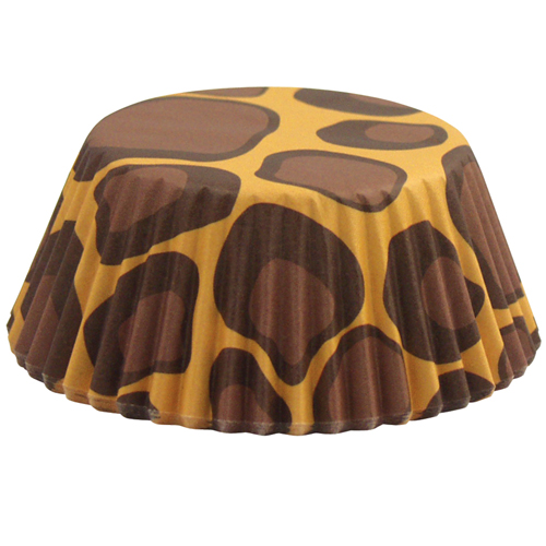 Fox Run Leopard Disposable Paper Baking Cups, 50 Pieces