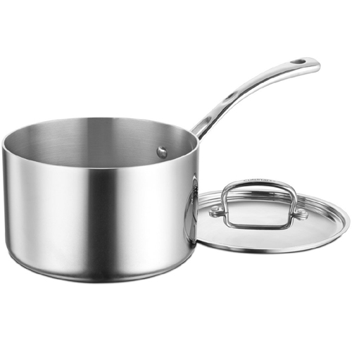 Cuisinart French Classic Tri-Ply Stainless Saucepan with Cover Size: 1 Quart FCT19-14