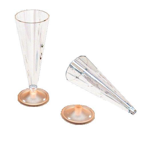 Martellato Disposable Plastic Cone & Base for Dessert