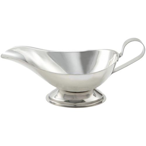 Winco Gravy Boat, Stainless Steel - 5 Ounce GBS-5