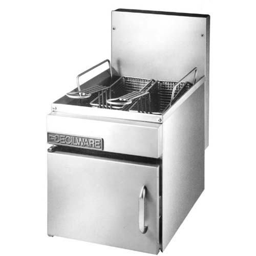"Cecilware Gas Fryer 17-1/4"" High - Natural Gas"
