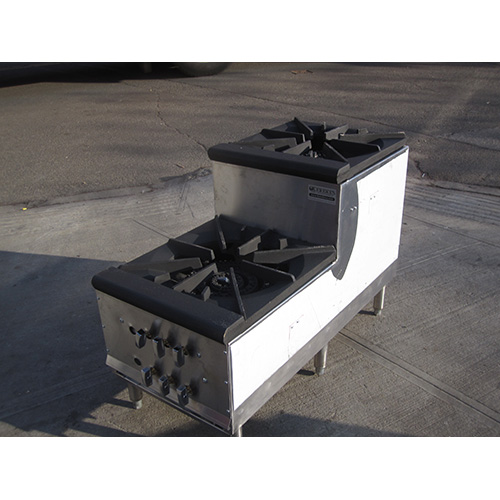 Double Burner, Step-up, Stock Pot Range - candy stove - Propane Gas DBL candy stove LP
