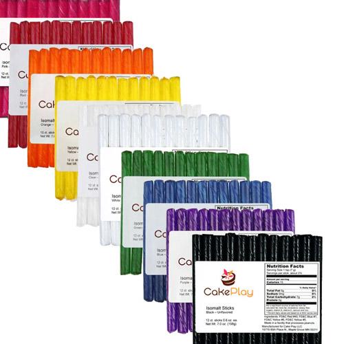 CakePlay Isomalt Sticks, One 12Pk - Purple
