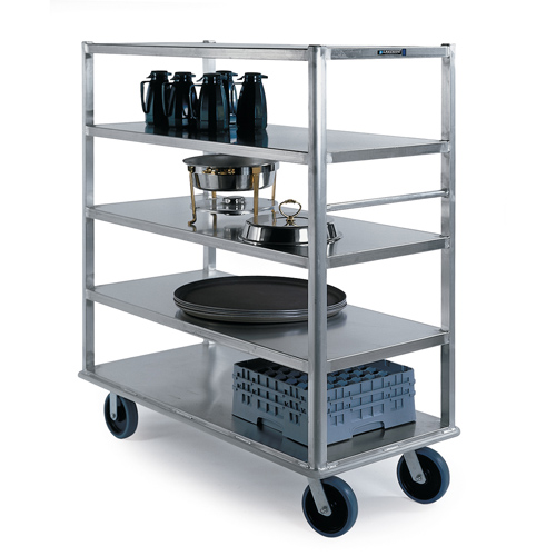 "Lakeside Aluminum Banquet Cart - 500 Lb. Cap. - 5 Shelf - 27"" x 64"" 4567"