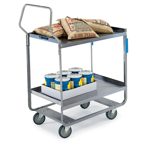 Excellent Lakeside Stainless Steel Utility Cart Handler Series Cap Shelf Recommended Item