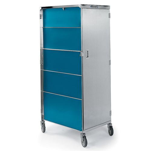 Lakeside La652t Enclosed Tray Truck 20 Trays Teal Finish Storage Cabinets Bakedeco Com