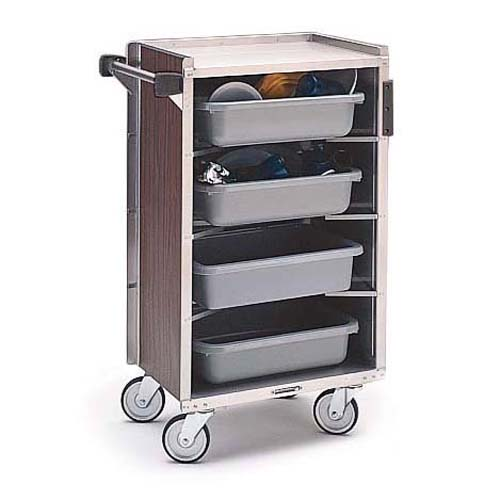 Lakeside-Enclosed-Bussing-Cart-Shelf-Walnut-Vinyl Product Image 1404