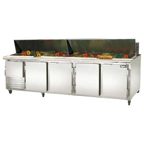 Leader-Sc-Bain-Marie-Self-Contained-Sandwich-Prep-Table-Aluminum Product Image 105