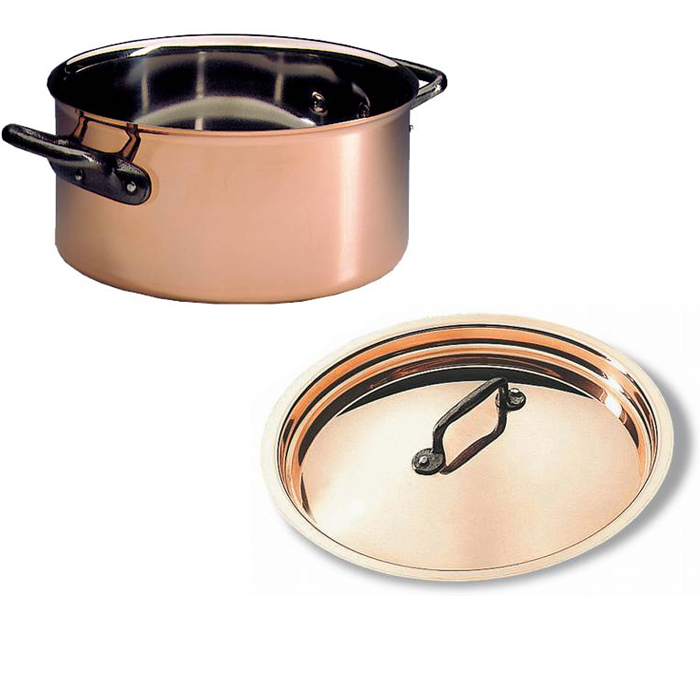 Matfer Copper Casserole Lid Quart Product Photo