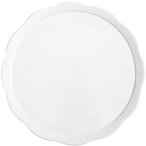 "G. E. T. Melamine Plates, Scallop-Edged Round, Bake & Brew Series,  11.63"" Dia ML-114-W"