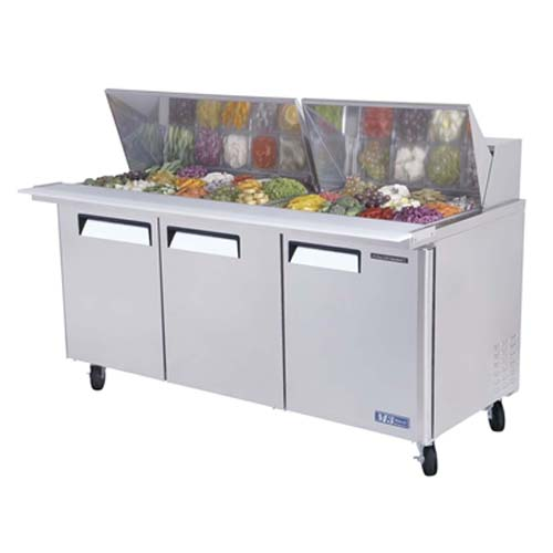 Outstanding Turbo Air M Series Door Mega Top Sandwich Salad Table Cu Ft Product Photo