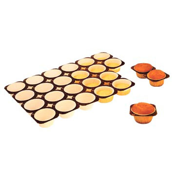 Paper Muffin Baking Tray 1.8 Oz, 24 Cavities