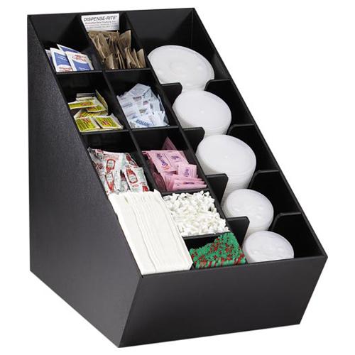 Dispense-Rite NLO-CTVL Lid, Straw & Condiment Countertop Organizer NLO-CTVL