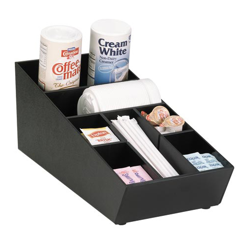Dispense-Rite NLO-STK-1BT Stackable Lid, Straw & Condiment Organizer NLO-STK-1BT