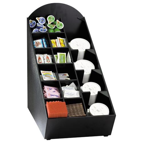 Dispense-Rite NLO-WVL Lid, Straw & Condiment Countertop Organizer NLO-WVL
