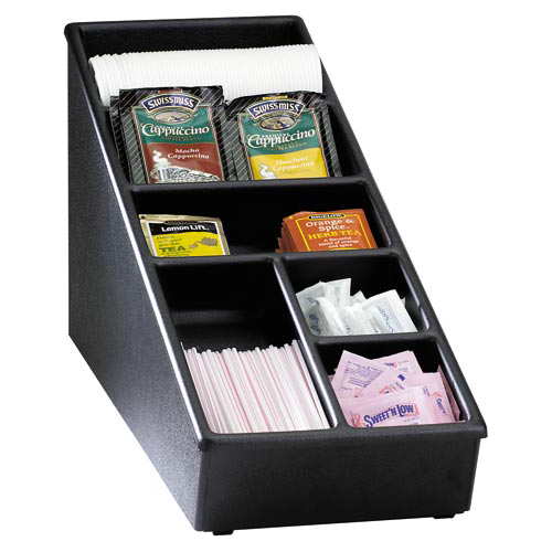 Dispense-Rite NLS-1BT Lid, Straw & Condiment Countertop Organizer - Narrow NLS-1BT
