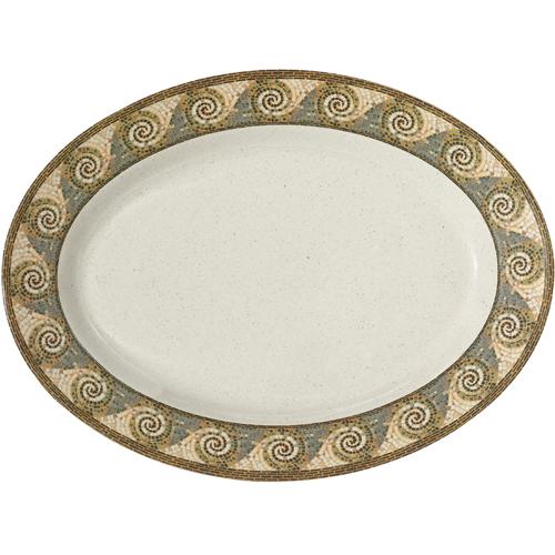 Melamine-Platter-Oval-Mosaic-Pattern Product Image 1991