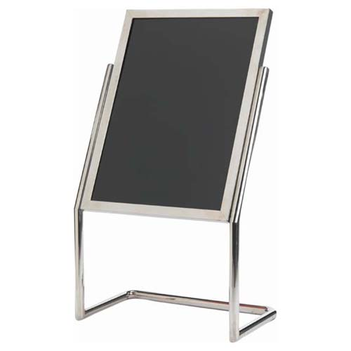Stylish Aarco Dual Capability Neon Markerboard Menu Poster Holder Chrome Product Photo