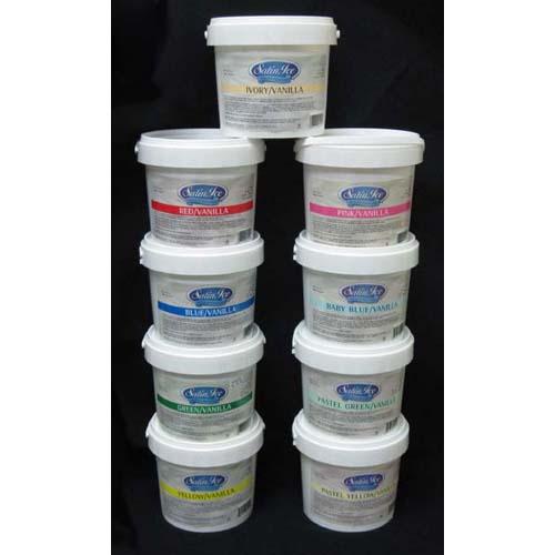 Satin Ice 5 Lbs Rolled Fondant Vanilla Flavor  - White 10002