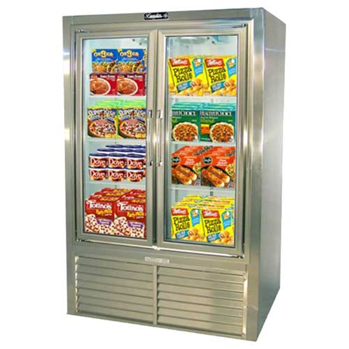 Leader Pf Swing Glass Door Self Contained Freezer Stainless Steel