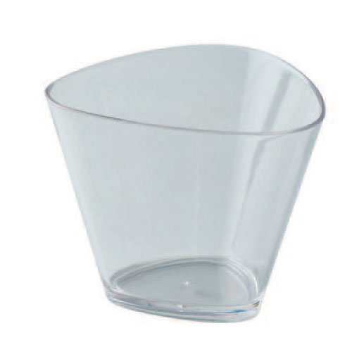 "Triangle Dessert Cups Clear Plastic, 3 1/4"" x 2 1/2"" H. Capacity 120 ml. (4 oz) PMO07"