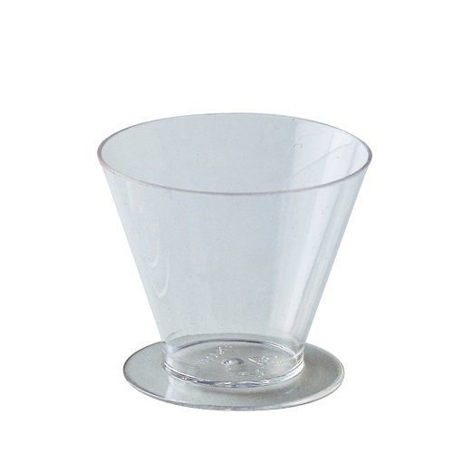 "Round Dessert Cups Clear Plastic, 2.5"" Dia. x 2"" H. 70 ml (2.3 Oz)"