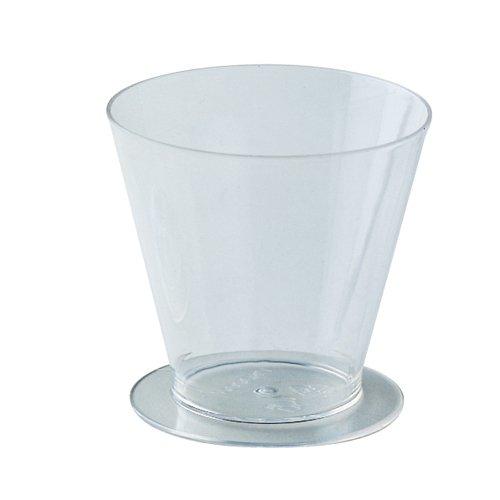 "Round Dessert Cups Clear Plastic, 2 3/4"" Dia. x 2 5/8"" H. 120 ml. 4 Oz Capacity PMOCO002"