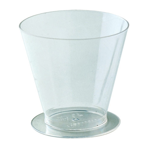 """Martellato Round Dessert Cups Clear Plastic, 3"""" Dia x 2 7/8"""" H 150 ml. (5 oz) Capacity PMOCO003"""