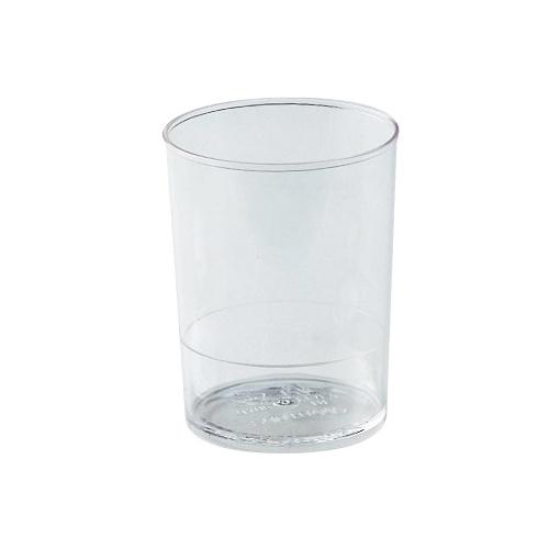 "Round Dessert Cups Clear Plastic, 2"" Dia x 2.5"" H Capacity 80 ml. (2.7 oz)"