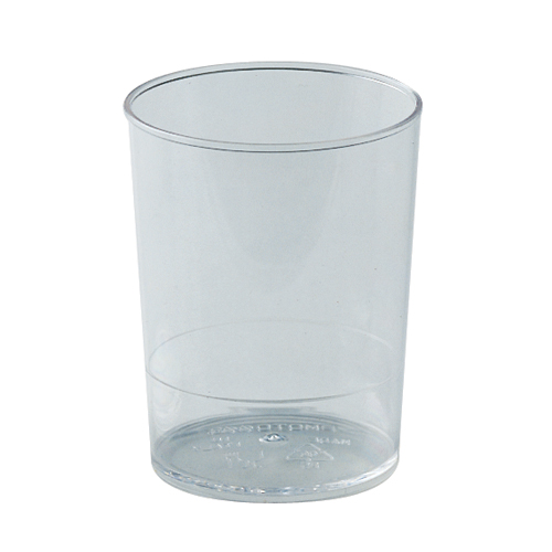 "Martellato Round Dessert Cups Clear Plastic, 2 1/4"" Diameter x 2 3/4"" High Capacity 100 ml. (3.4 oz), PK of 100"