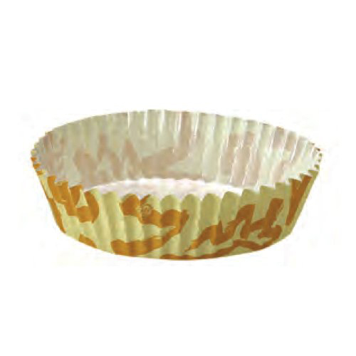 "Welcome Home Brands Disposable Sunshine Ruffled Paper Baking Cup - 3"" Diameter x 0.9"" High"