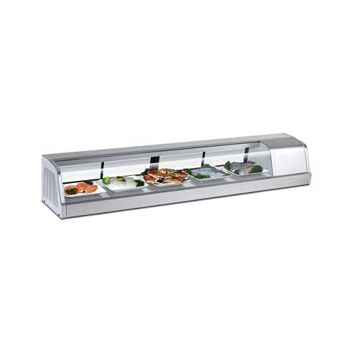 Turbo-Air-Sakura-Refrigerated-Sushi-Case-Left