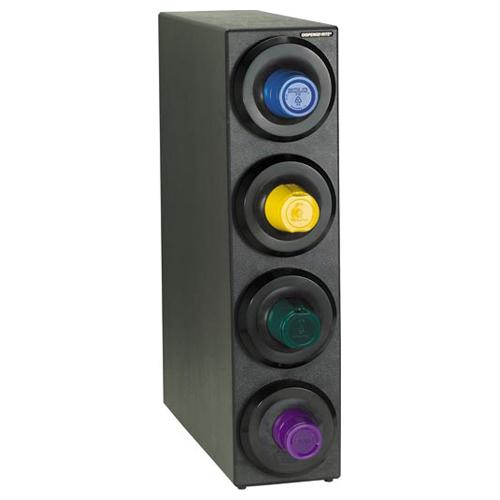 Dispense-Rite SLR-S-4BT Countertop 4-Cup Dispensing Cabinet SLR-S-4BT
