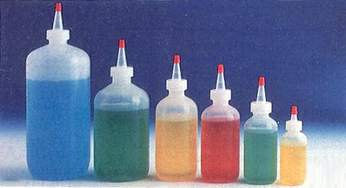 Fine-Tip Squeeze Bottles with Cap - 1/2 Ounce