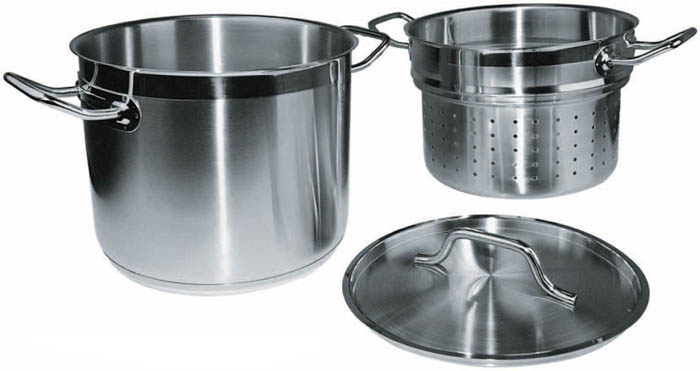 Winware by Winco Stainless Steamer/Pasta Cooker with