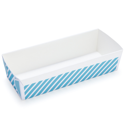 Welcome Home Brands Stripe Blue Disposable Loaf Paper Baking Pan