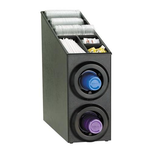 Dispense-Rite STL-SL-2BT Countertop 2-Cup Dispensing Combination Cabinet STL-SL-2BT