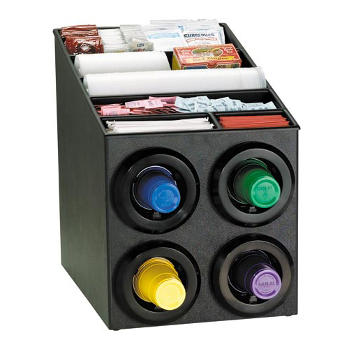 Dispense-Rite STL-SL-2X2BT Countertop 4-Cup Dispensing Combination Cabinet STL-SL-2X2BT