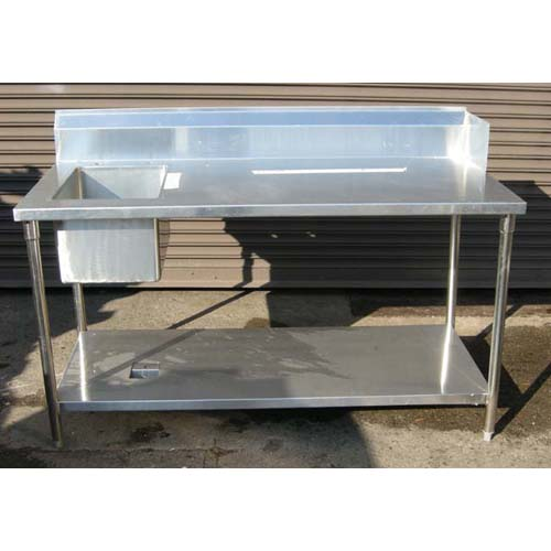 Custom Made Commercial Stainless Steel Kitchen Table Sink New