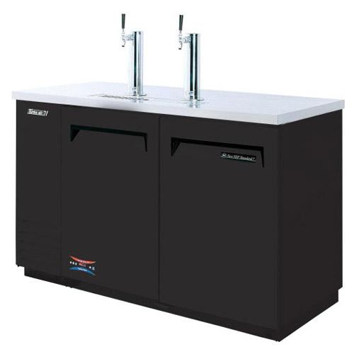 "Turbo Air TBD-2SB Beer Dispenser 59"", 2 Keg - Black Laminated Exterior"
