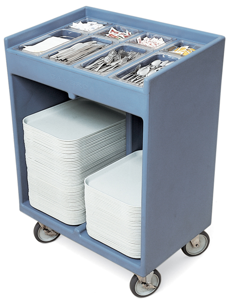 Amazing Cambro Tc Tray Silver Cart W Pans Vinyl Cover Granite Product Photo