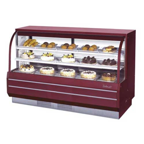 Impressive Turbo Air Tcgb Curved Glass Refrigerated Dry Bakery Case Product Photo