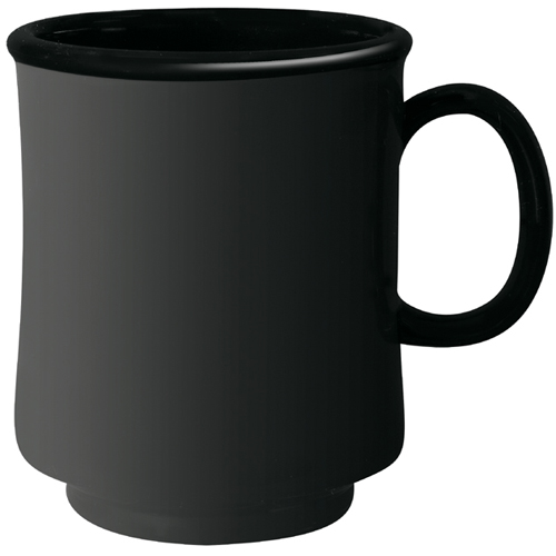 "G. E. T. San Mug (Stacking) Black Elegance Series, 8 oz, 3.13"" Dia. x 3.75"" Deep TM-1308-BK"
