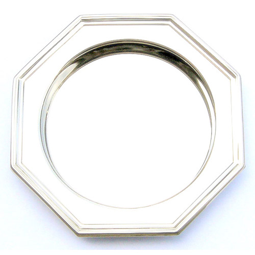 """Octagonal Tray, Stainless, 6-7/8"""""""