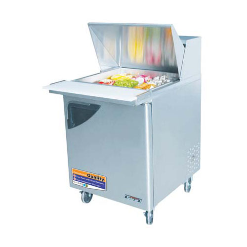Turbo Air TST-28SD-12 Super Deluxe 1 Door Mega-Top Sandwich Salad Table 8 Cu. Ft TST-28SD-12