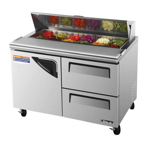 Turbo Air TST-48SD-D2 Super Deluxe 2 Drawer Sandwich Salad Table 12 Cu. Ft.